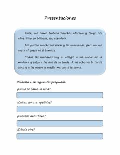 Interactive worksheet Pesentación