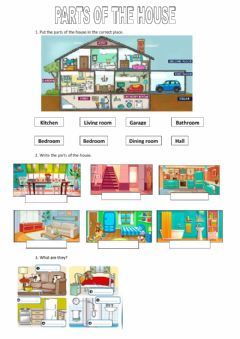 Interactive worksheet The parts of the house