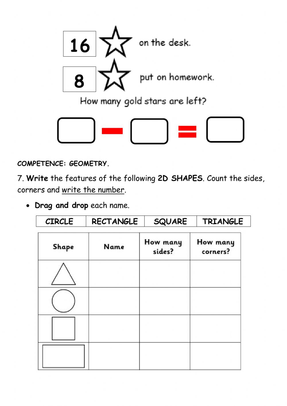 Review guide tr. math worksheet