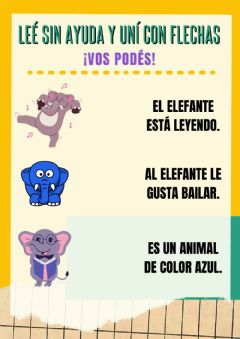 Interactive worksheet Comprensión lectora Elefante