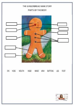 Interactive worksheet Gingerbread Man Body
