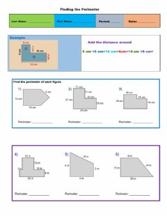 Interactive worksheet Perimeter of compound figures