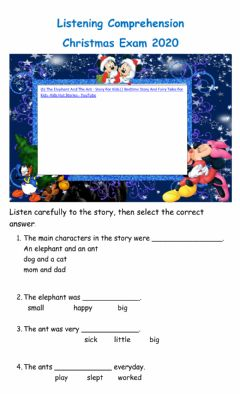 Interactive worksheet The elephant and the ant