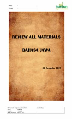 Interactive worksheet Review All Materials Bahasa Jawa