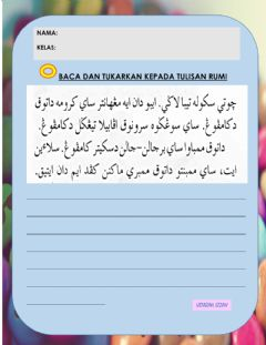 Interactive worksheet Jawi tahun 2