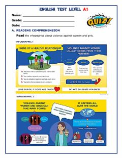 Interactive worksheet Let-s stop violence against women and girls - speak up