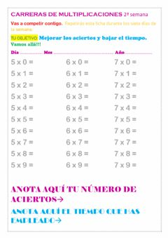 Interactive worksheet Repasar tablas
