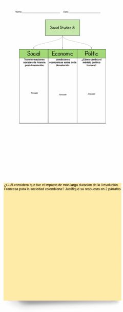 Interactive worksheet QUIZ -2 - Transformaciones post Revolución Francesa