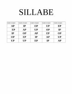 Interactive worksheet Sillabe AP EP IP OP UP