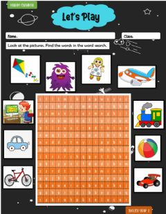 Interactive worksheet Let's Play word search