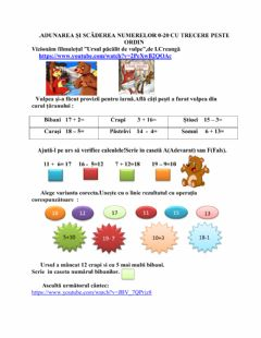 Interactive worksheet Numere naturale
