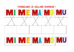 Interactive worksheet LE SILLABE  CON M e N