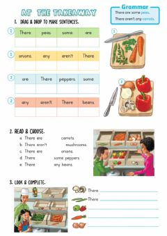 Interactive worksheet At the Takeaway