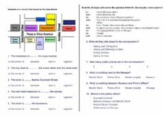 Interactive worksheet Preposition of direction