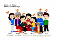 Interactive worksheet When is your birthday?