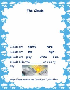 Interactive worksheet The Clouds