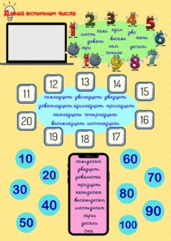 Interactive worksheet Числа от 1 до 100