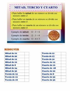 Interactive worksheet Mitad y Doble
