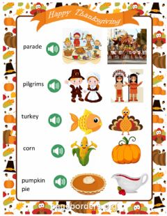 Ficha interactiva Thanksgiving
