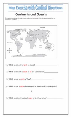 Interactive worksheet Cardinal Compass Directions