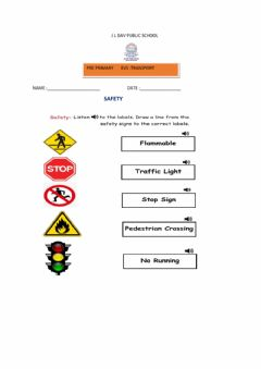 Interactive worksheet Safety rules