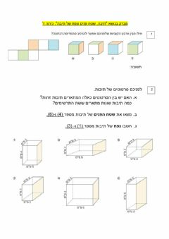 Interactive worksheet תיבה