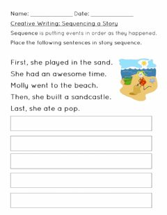Interactive worksheet Sequencing a Story Worksheet 2