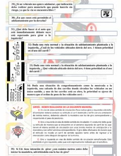 Interactive worksheet Educación Vial 29 a 35