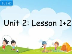 Interactive worksheet Unit 2-lesson 1,2