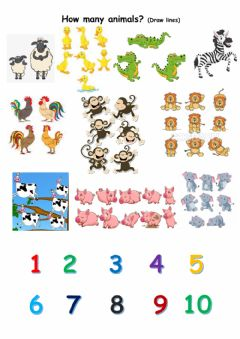 Ficha interactiva How many animals?