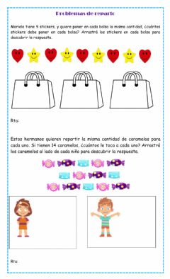 Interactive worksheet Problemas de reparto