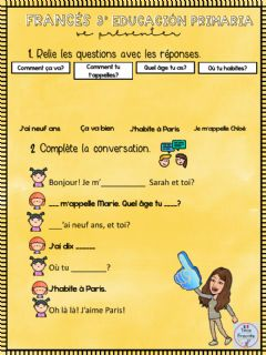 Interactive worksheet Se présenter