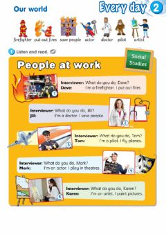 Ficha interactiva Smart Junior 3. Module 2 - Every day. Lesson 3 - Our world (Jobs)