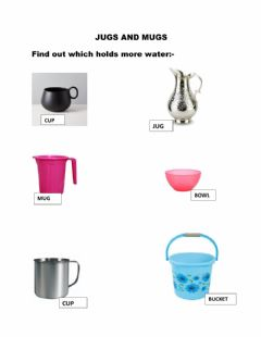 Interactive worksheet Jugs and Mugs