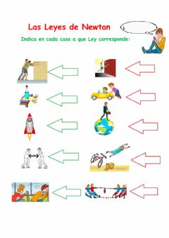 Interactive worksheet Leyes de Newton