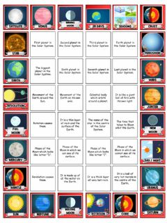 Interactive worksheet Sticker album about the Solar System