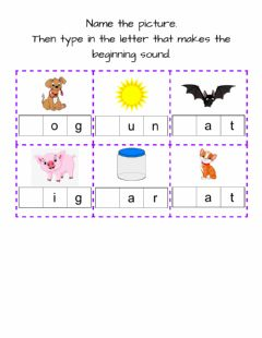 Ficha interactiva Beginning Sounds-1