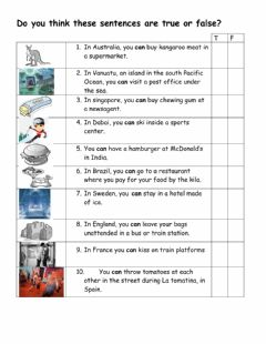 Interactive worksheet Can can't for possibility and permission