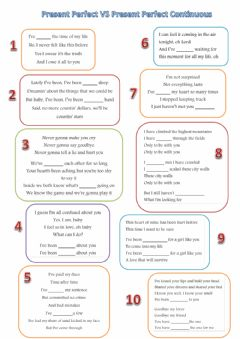 Interactive worksheet Present Perfect VS Present Perfect Continuous