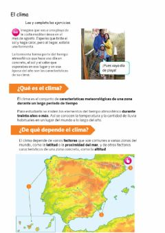 Interactive worksheet Sociales el clima