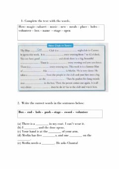 Interactive worksheet The Blue Cat CLub