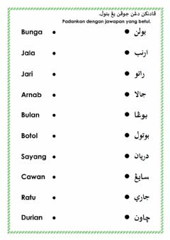 Interactive worksheet Jawi suaikan