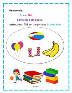 Interactive worksheet In and Out