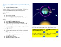Interactive worksheet Sun earth moon system SC.8.E.5.9