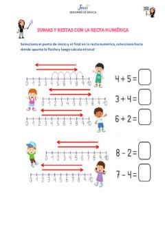 Interactive worksheet Recta numérica