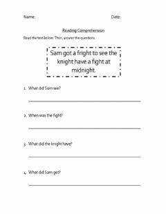 Interactive worksheet Reading comprehension 'igh'