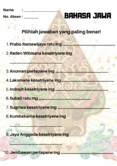 Interactive worksheet Wulangan 3