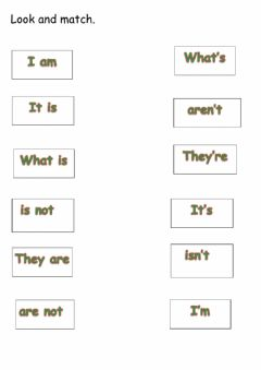 Interactive worksheet Contrations