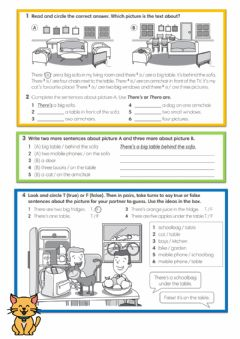Interactive worksheet English Class A1 unit 3