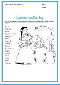 Interactive worksheet Tradition day 4th
